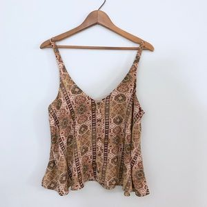 F21 • Large • Flowy Tribal top